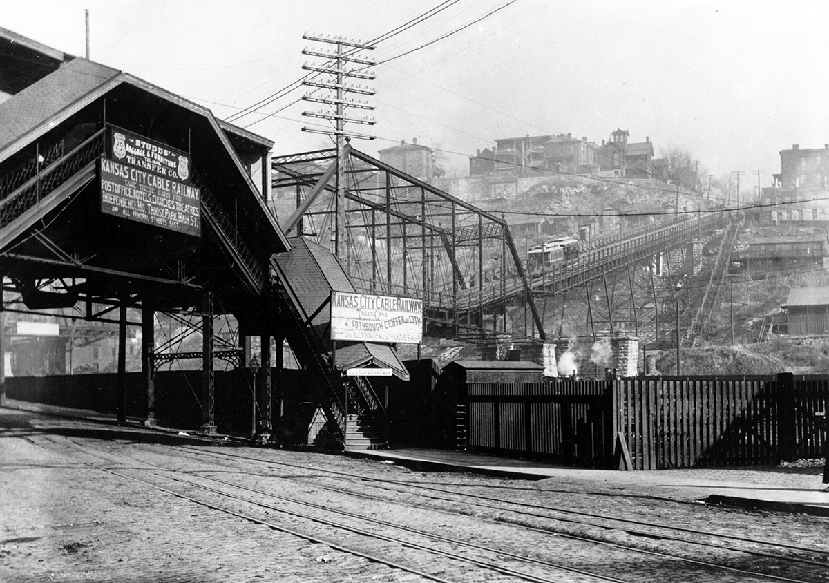 View of the Ninth Street Incline from the West Bottoms, 1895