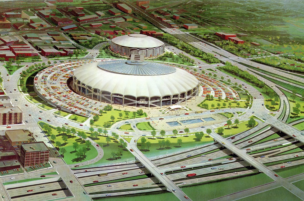 A proposed downtown stadium site near the current Kauffman Center, circa 1967. Kansas City Public Library