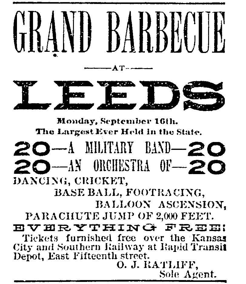 Kansas City Times clipping, September 13, 1889.