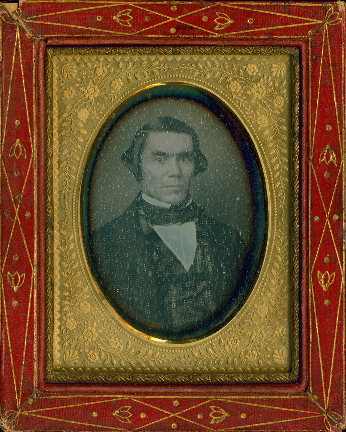 Daguerreotype portrait of Silas Armstrong, n.d., image courtesy of Kansas Room Special Collections, Kansas City Kansas, Public Library