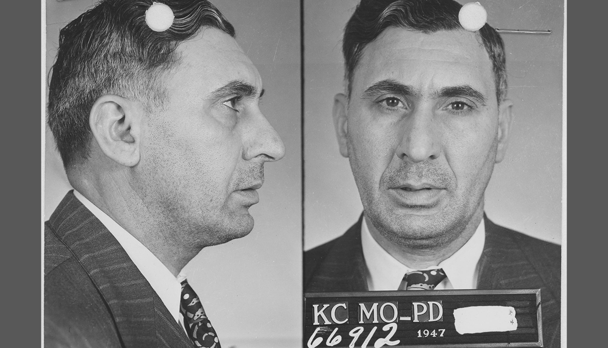 Mugshot of Charles Gargotta, ca. 1940s. National Archives at Washington, D.C. The Pendergast Years.