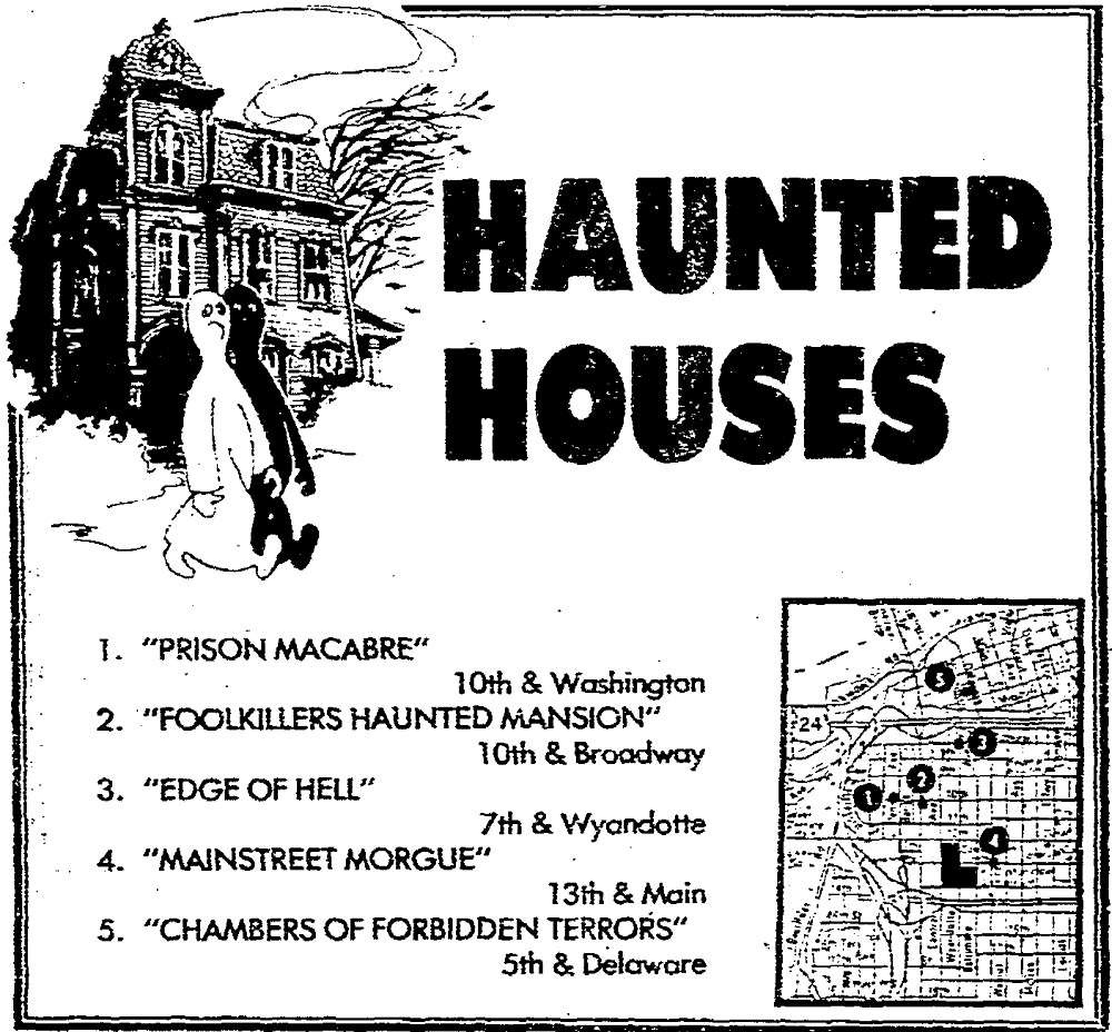 An October 1978 advertisement in The Star for haunted houses. Kansas City Public Library