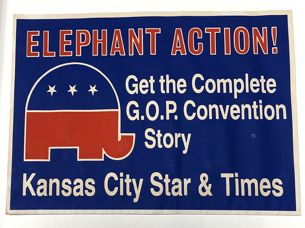 GOP Convention sign for Kansas City Star and Times image