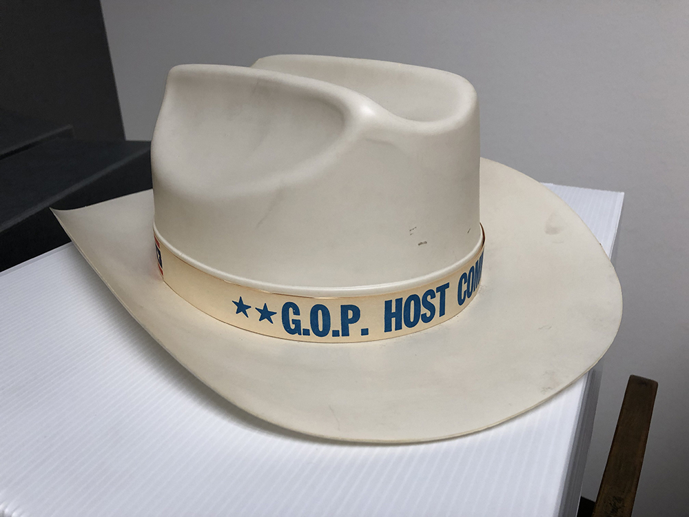 and souvenir G.O.P. Host Committee plastic cowboy hat image