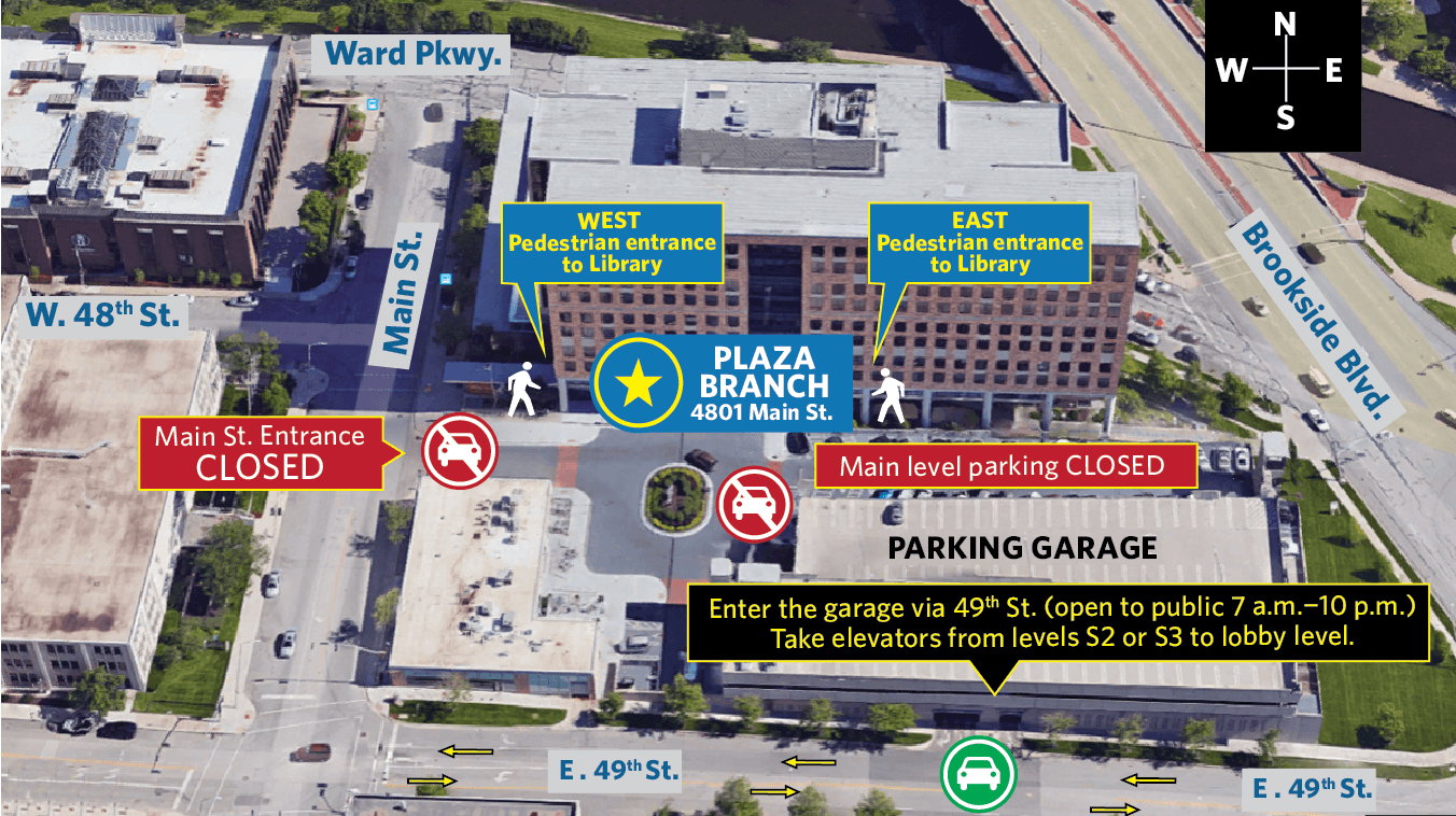 Plaza Branch parking construction map