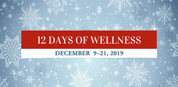 12 Days of Wellness at the Library graphic