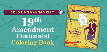 19th Amendment Coloring book graphic
