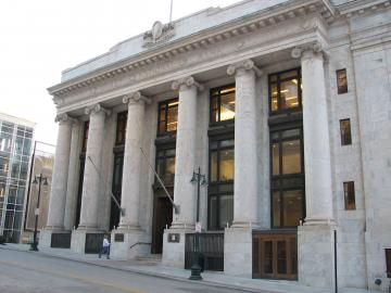Image of the front of the Central Library.