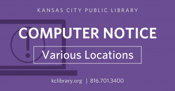 Library computers at all locations will be undergoing upgrades the week of May 20-25.  This process will roll out new and improved features, including advance computer station sign-up capabilities. Due to the  installation of planned enhancements, public computers will be unavailable for patron use during the dates that upgrades are scheduled at each location. Before visiting your neighborhood location during this period, read the schedule of upgrades to be aware of computer availability.
