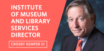 Kansas City Public Library Director Crosby Kemper III is assuming leadership of the Washington, D.C.-based Institute of Museum and Library Services (IMLS) after his confirmation by the U.S. Senate. He was nominated to the position by President Donald Trump.