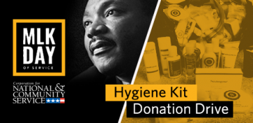 In the spirit of service embodied by Dr. Martin Luther King, Jr. the Library's AmeriCorps VISTA Project is collecting donations of travel-size personal care items for a Hygiene Kit Drive. Between January 2 - 16, 2019,  visit any Kansas City Public Library location and bring supplies to drop off in dedicated boxes. Donated materials will be assembled into kits that will be given to individuals experiencing homelessness.