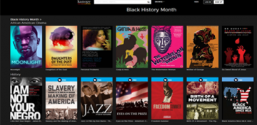 image of Black History Month films