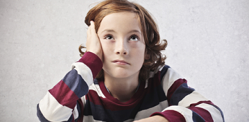 Image of bored kid
