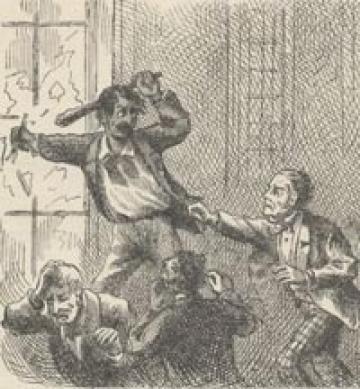 Injun Joe escapes the courtroom.