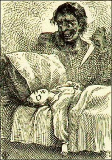 """""""Tom Dreams"""" illus. by True Williams, from the 1876 1st. ed."""