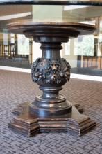19 c. Pedestal Table, pedestal detail
