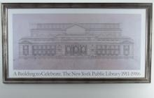Architectural Drawing of the New York Public Library