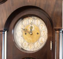 Colonial Manufacturing Grandfather Clock, face