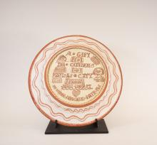 Commemorative Plate for then 9th & Locust Library, back