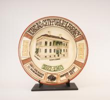 Commemorative Plate for then 9th & Locust Library