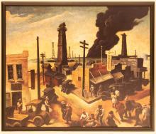 Enlarged Thomas Hart Benton Boomtown