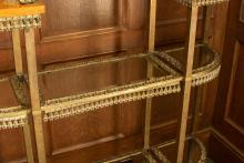 Etagere, glass shelf detail