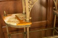Etagere, marble detail