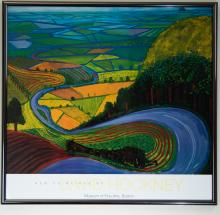 Exhibition Poster for Hockney's Garroby Hill