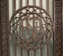 First National Bank Bronze Doors detail