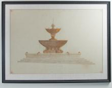 Fountain Elevation Drawing