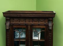 Four Lions Bookcase (IV) top detail