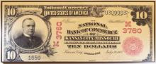 National Bank of Commerce Ten Dollar Bill