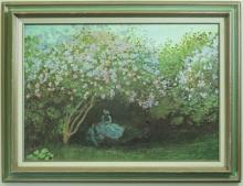 Reproduction of Monet's The Rest Under Lilacs
