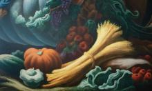 Thomas Hart Benton Mural, detail