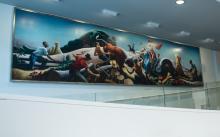 Thomas Hart Benton Mural, in situ