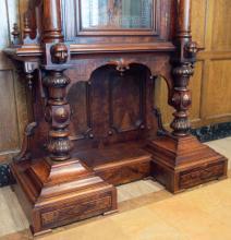 Victorian Centennial Clock Base detail