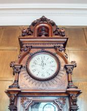 Victorian Centennial Clock, worms-eye view