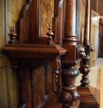 Victorian Centennial Clock detail
