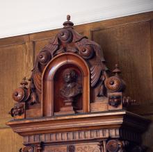 Victorian Centennial Clock, top detail