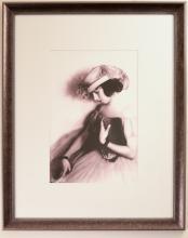 Portrait of Emma Haig Gazing Downward