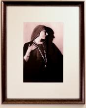 Portrait of Nance O'Neil with Head Scarf