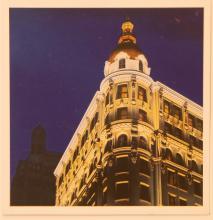 "Glen Hansen ""Just in Time"" postcard from 2013 Fishback Gallery Exhibit, front"