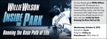 Former Royals great Willie Wilson discusses his 19 seasons as a Major League Baseball player, his record-setting career, and the drug conviction that might have ruined his life at the official launch of his new memoir, Inside the Park: Running the Base Path of Life.