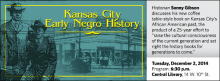 "Historian Sonny Gibson discusses his new coffee table-style book on Kansas City's African American past, the product of a 25-year effort to ""raise the cultural consciousness of the current generation and set right the history books for generations to come."""