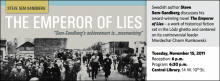 Swedish author Steve Sem-Sandberg discusses his award-winning novel The Emperor of Lies – a work of historical fiction set in the Lódz ghetto and centered on its controversial leader Mordechai Chaim Rumkowski.