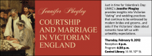 """Just in time for Valentine's Day: UMKC's Jennifer Phegley provides insights into Victorian """"dating"""" and wedding practices that continue to be embraced by modern brides and grooms…and asks if the Victorians' ideas about romantic have left us with unhealthy expectations."""