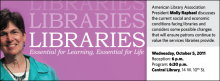 American Library Association President Molly Raphael discusses the current social and economic conditions facing libraries and considers some possible changes that will ensure patrons continue to value the services libraries provide.