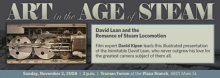 David Lean and the Romance of Steam Locomotion