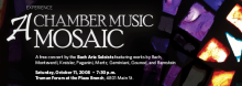 Bach Aria Soloists chamber music group performs on October 11