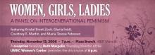 Women,  Girls, Ladies: A Panel on Intergenerational Feminism Honoring Ruth Margolin